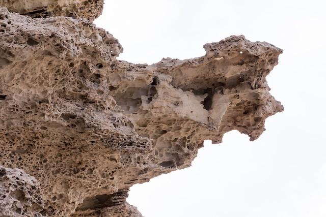 Overhanging sandstone structure