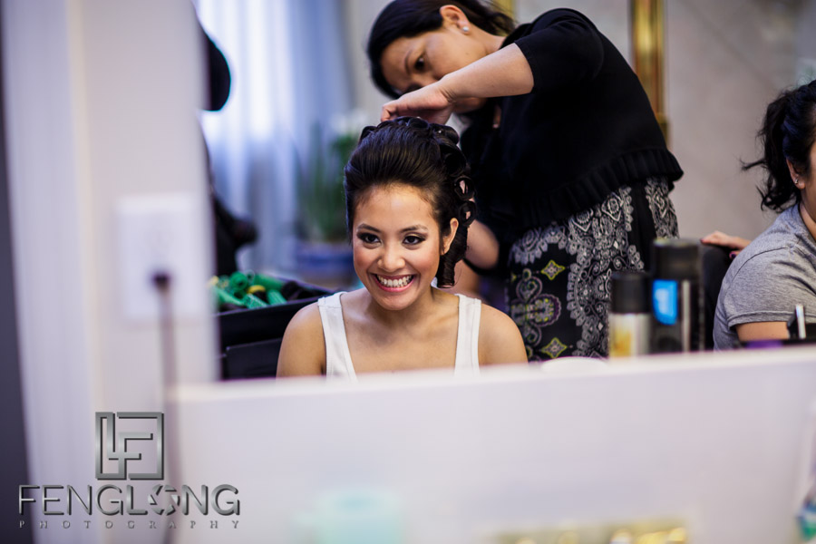Bride gets ready for Cambodian ceremony