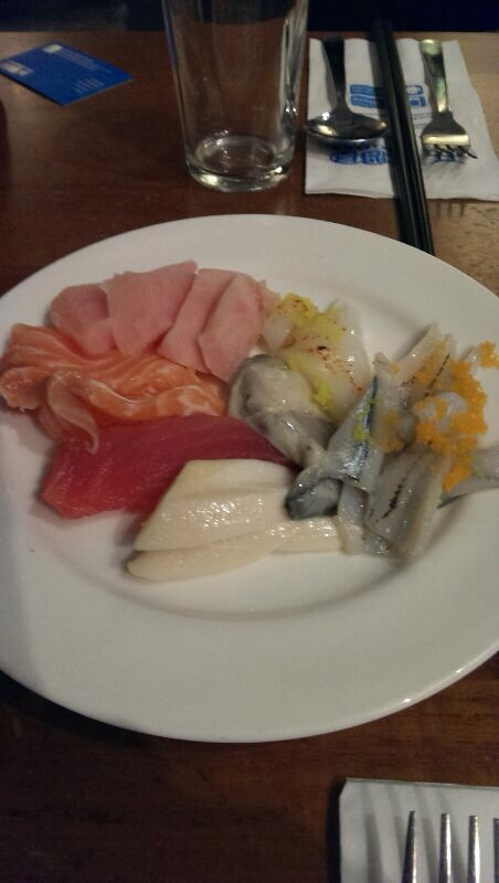 Sashimi as appetizer