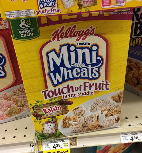 Kellogg's Frosted Mini Wheats Touch of Fruit in the Middle Raisin Cereal