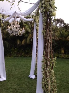 Chuppah with chandelier