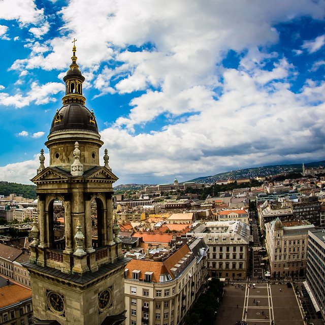 St. Stephen's Basilica view, Budapest, Hungary