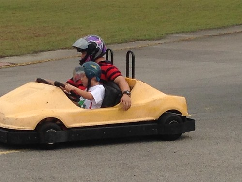 Go karting with Dad