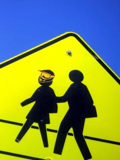 Crosswalk Sign Street Art