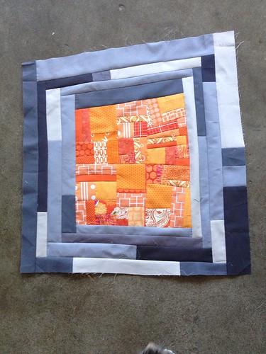 Made Fabric Orange Block