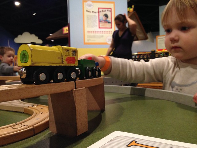 Maddy and the trains.