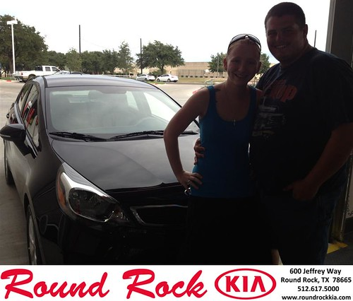 Thank you to Tracy Morgan on your new 2013 Kia Rio from Derek Martinez and everyone at Round Rock Kia! by RoundRockKia