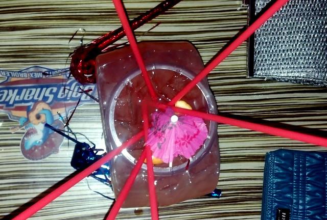 Fishbowl drinks in Santa Barbara.