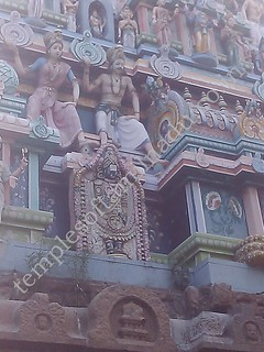 Image of Perumal in the main Vimanam. Velleeswarar Temple, Mangadu.