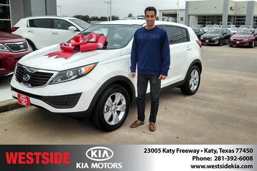 Thank you to Ravi Garg on your new 2013 #Kia #Sportage from Gil Guzman and everyone at Westside Kia! #NewCarSmell by Westside KIA