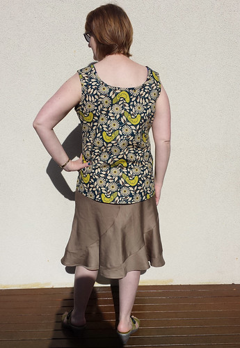 By Hand London Polly top with 5481 skirt - first muslin