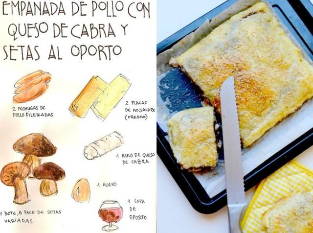 Empanada de Pollo y queso de cabra