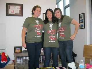 Kristen, Mei and Nicola in their matching race shirts.