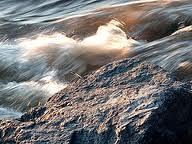 Vitesse du courant à l'extrémité du Parc des Rapides de Lachine