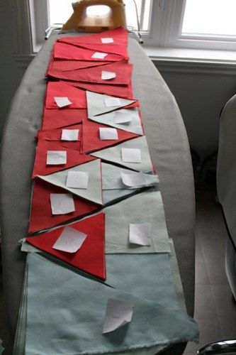 In And Out Quilt: Cutting