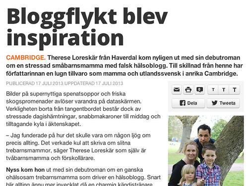 Hallandsposten - Therese Loreskär, Bloggdrottningen