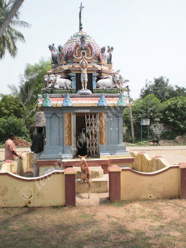 Nandanar's shrine outside the temple, Thirupungur Sivalokanathar Temple