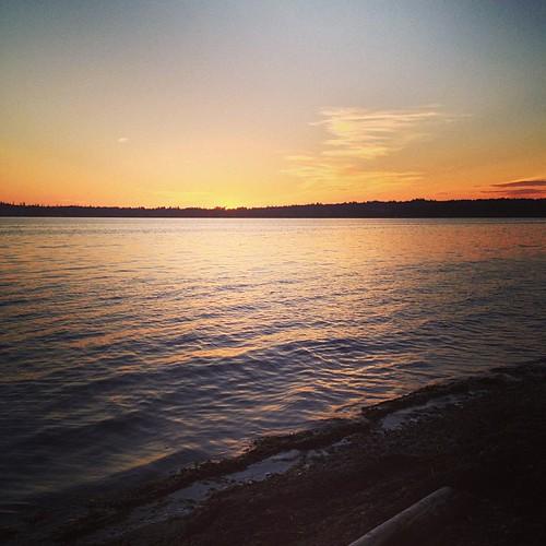 #sunset at Birch Bay WA by @MySoDotCom