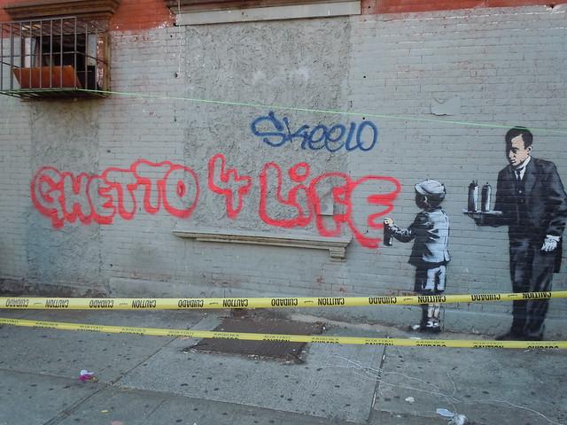 Banksy Ghetto 4 Life