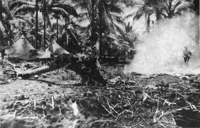 Camp at Milne Bay after raid