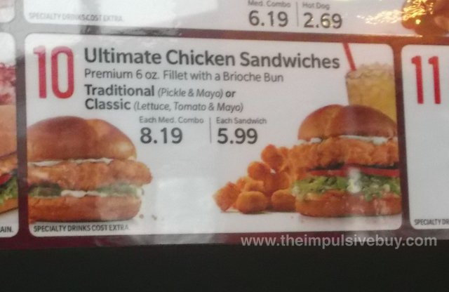 Sonic Ultimate Chicken Sandwich