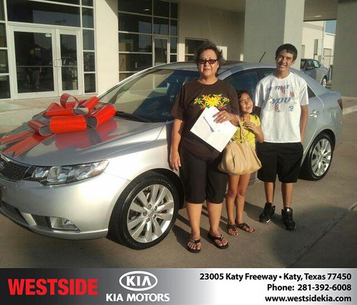 Thank you to Elvia Lopez on the 2012 Kia Forte from Gil Guzman and everyone at Westside Kia! by Westside KIA