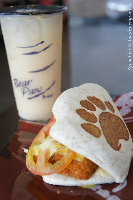 7.bear paw -whole wheat, fish, honey mustard, cheese-lemon yakult RM 16.90 (7)