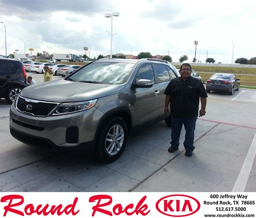 Thank you to Anronio Maldonaldo on your new 2014 Kia Sorento from Rudy Armendariz and everyone at Round Rock Kia! by RoundRockKia