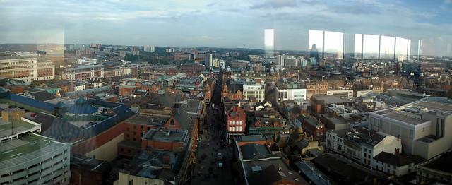 Leeds city centre panorama