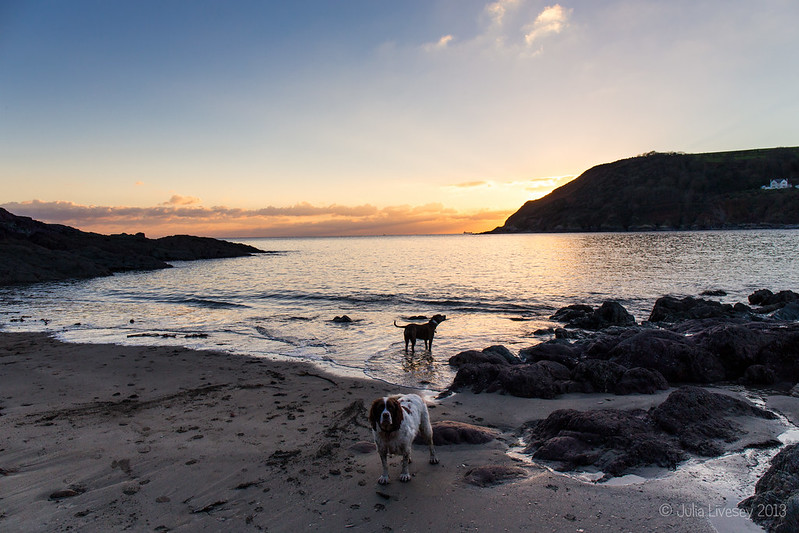 Max and Jez, Talland Bay, Cornwall