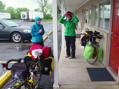 preparing to ride in the rain, VA