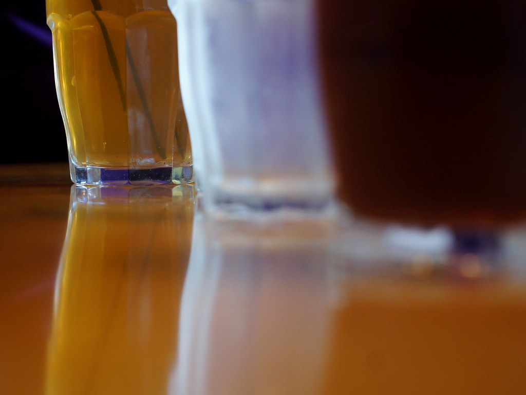 Frosted iced tea glasses