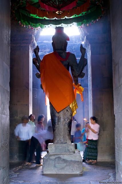 Buddhist Worship at Angkor Wat