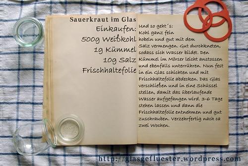 Einkaufszettel Sauerkraut im Glas by Glasgefluester