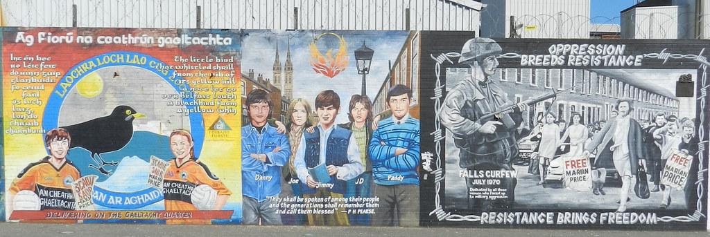 Barrio Católico Murales en la calle Belfast Ulster Irlanda del Norte 10