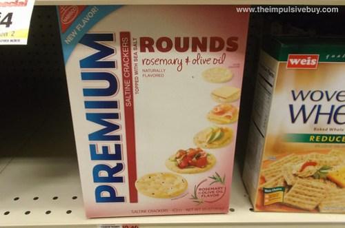 Rosemary & Olive Oil Premium Round Crackers