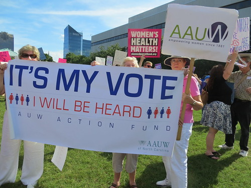 AAUW Action Fund Banner: It's My Vote/I Will Be Heard