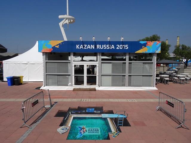 Kazan Russia 2015 stand in Barcelona