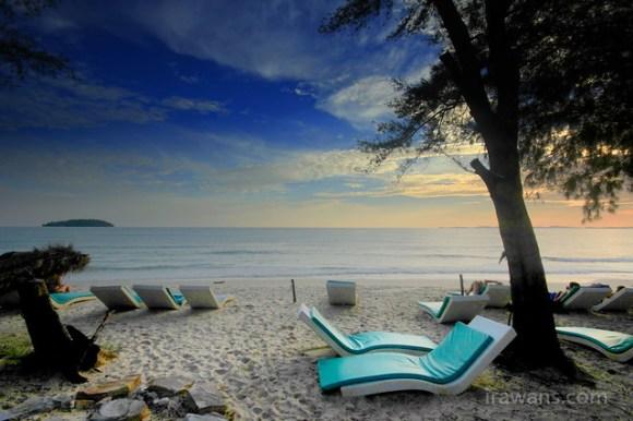 Lazy beds at Mushroom Points Otres Beach Sihanoukville