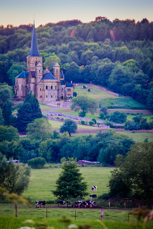 L'eglise Mont-devant-Sassey Church, France.  Fairytale setting.