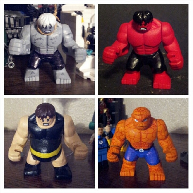 Sickbricks Lego Custom bigfigs Solomon Grundy Red Hulk Blo