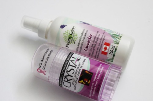 Crystal Deodorant and Lavendar Spray