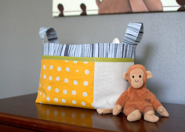 divided basket for a baby boy