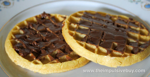 Skippy Natural Peanut Butter Spread with Dark Chocolate on Waffles