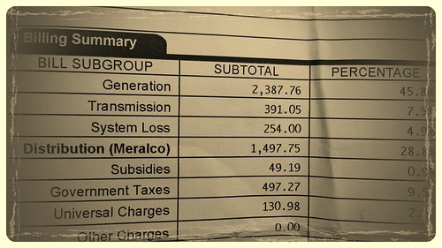 Sample Meralco bill