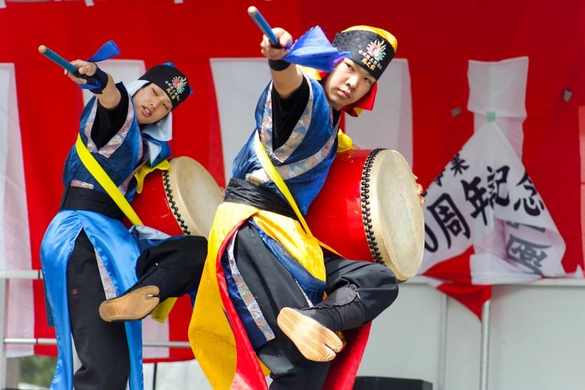 Drumming demo, Matsuri Festival.