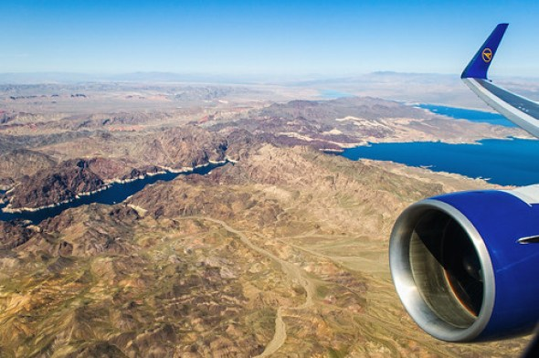 Lake Mead from the air - Nikon D300