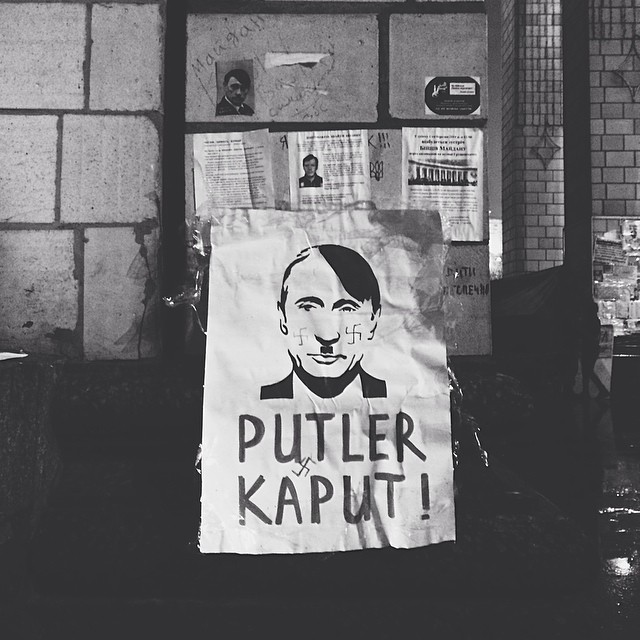 Putin on the mustache | #putin #art #satire #kiev #kyiv #ukraine #poster #nazi #blackandwhite
