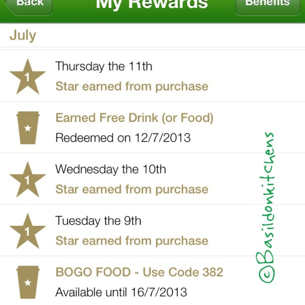July 14 - coupon {my Starbucks reward coupons are electronic on my iPhone} #photoaday #TitleFx #coupon #starbucks
