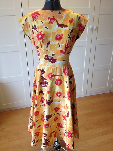 orange pique Butterick 2344 back